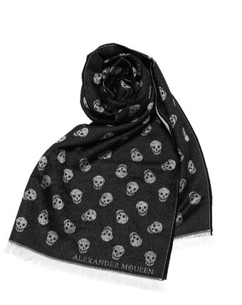 Scarf black White ALL OVER SKULL
