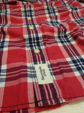 Abercrombie & Fitch Shirts Tartan Other Plaid Patterns Street Style Cotton 3
