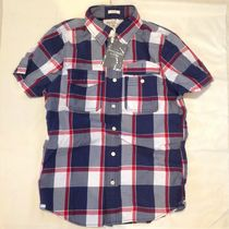 Abercrombie & Fitch Shirts Tartan Other Plaid Patterns Street Style Cotton 7
