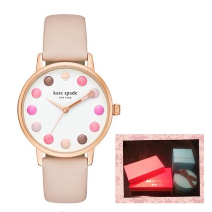 kate spade new york Leather Round Quartz Watches Analog Watches
