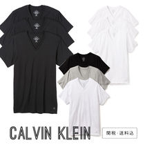 Calvin Klein V-Neck Plain Cotton Short Sleeves V-Neck T-Shirts