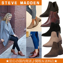 Steve Madden Casual Style Plain Block Heels Ankle & Booties Boots