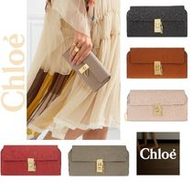 Chloe Drew Lambskin Long Wallets