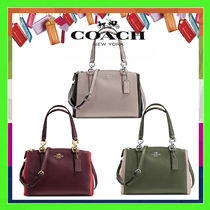 Coach Casual Style 2WAY Plain Leather Handbags