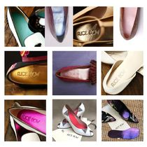 Alice Bow Plain Leather Party Style Shoes