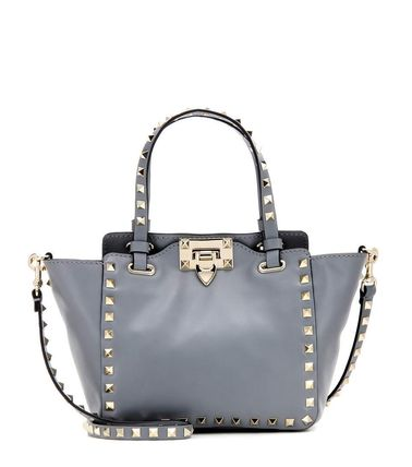 Gray ROCK studded tote