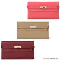 HERMES Kelly Plain Long Wallets