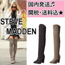 Steve Madden Suede Block Heels Elegant Style Over-the-Knee Boots