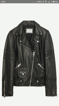 Genuine leather leather riders jacket outerwear