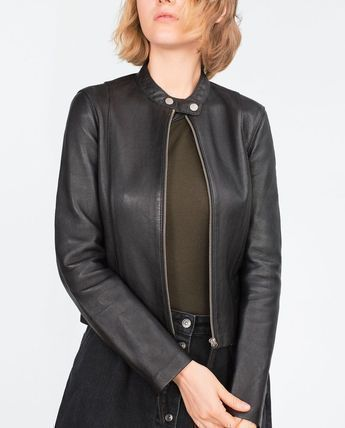 Genuine leather leather riders jacket blouson outer