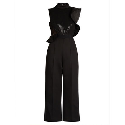 Self Port Rate Beads & Sequins jumpsuits