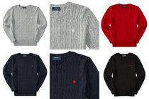 Ralph Lauren Crew Neck Cable Knit Short Street Style Collaboration
