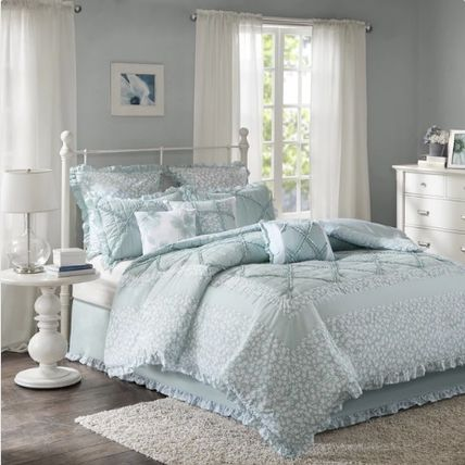 Double duvet cover 9 points and set skirt with floral