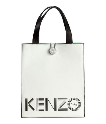 Collaboration Leather H&M x KENZO Collaboration Totes