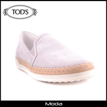 TOD'S Plain Toe Suede Plain Loafers & Slip-ons