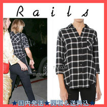 Rails Tartan Casual Style Long Sleeves Shirts & Blouses