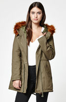 LA hearts Street Style Plain Long Parkas