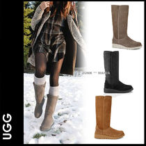 UGG Australia Casual Style Sheepskin Plain Wedge Boots