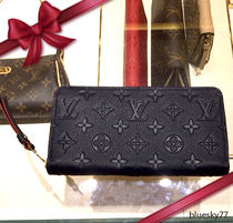 Louis Vuitton MONOGRAM Monoglam Unisex Leather Long Wallets