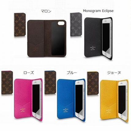 Louis Vuitton MONOGRAM Plain Leather Smart Phone Cases