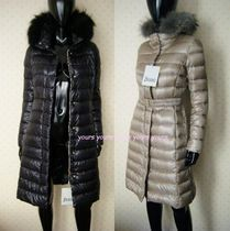 HERNO Fur Plain Long Down Jackets