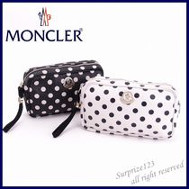MONCLER Dots Leather Pouches & Cosmetic Bags