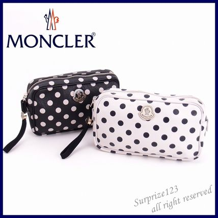 Dots Leather Pouches & Cosmetic Bags