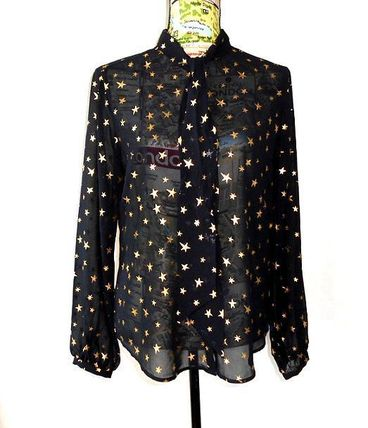 Star Long Sleeves Elegant Style Shirts & Blouses