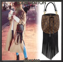 Louis Vuitton NOE Monogram Tassel 3WAY Leather Elegant Style Shoulder Bags