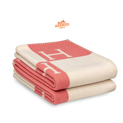 HERMES blanket Avalon Office and at-home in pink cashmere