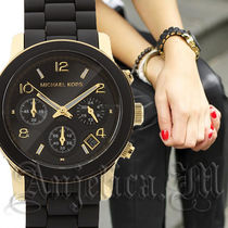 Michael Kors Casual Style Silicon Round Quartz Watches Analog Watches