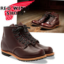 RED WING Plain Toe Mountain Boots Plain Leather Outdoor Boots