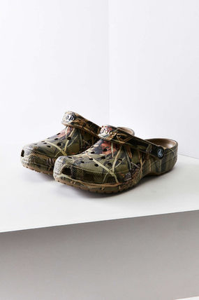 Camouflage Tropical Patterns Round Toe Casual Style