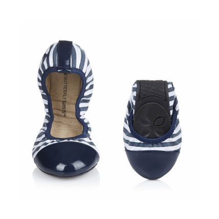Stripes Ballet Shoes