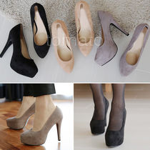 Suede Pin Heels Stiletto Pumps & Mules