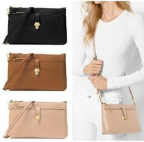 Michael Kors MERCER 2WAY Plain Leather Elegant Style Shoulder Bags