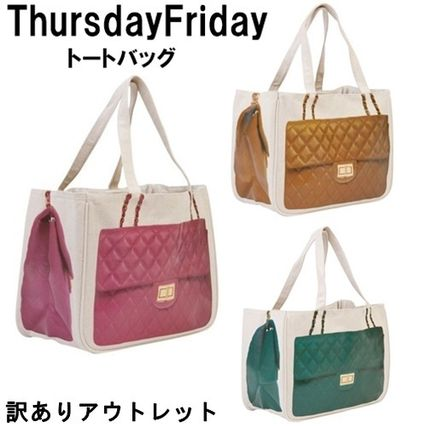Casual Style Unisex Cambus Street Style A4 Handmade Totes