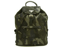 PRADA PIONNIERE Camouflage Unisex Nylon A4 Backpacks