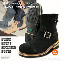 Suede Engineer Boots