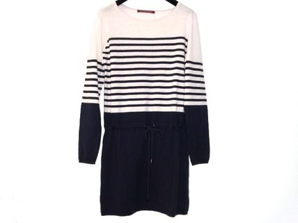Stripes U-Neck Long Sleeves Dresses