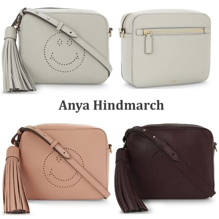 Anya Hindmarch Casual Style Tassel Leather Shoulder Bags
