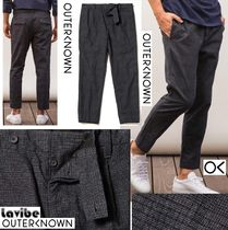 Outer known Other Check Patterns Cotton Cropped Pants
