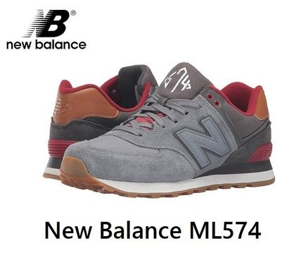 New Balance 574 Street Style Plain Leather Sneakers