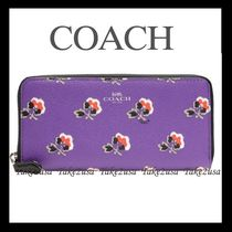 Coach Flower Patterns PVC Clothing Long Wallets