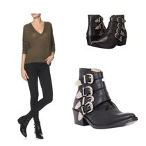 TOGA Casual Style Leather Mid Heel Boots