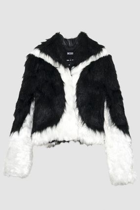 Faux Fur Street Style Medium Party Style