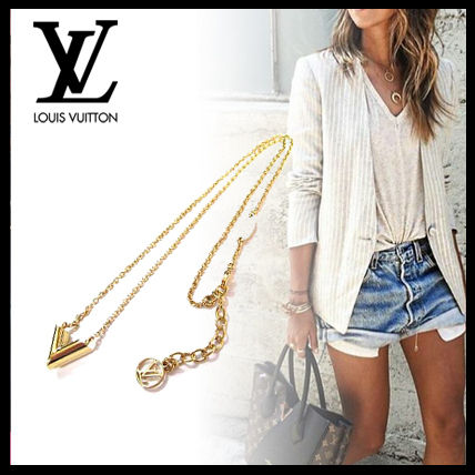 Louis Vuitton Brass Elegant Style Necklaces & Pendants