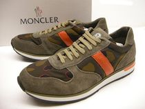 MONCLER Camouflage Leather Sneakers