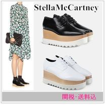 Stella McCartney ELYSE Square Toe Platform Faux Fur Plain Shoes
