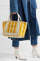 BALENCIAGA CABAS Casual Style Canvas Blended Fabrics Bi-color Totes